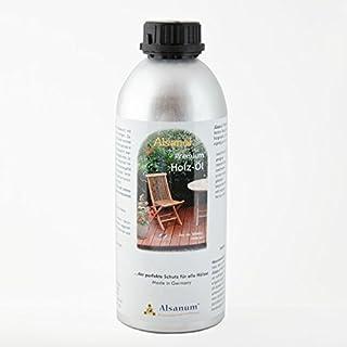 Alsanol Premium Holz-Öl 1000 ml in der Alu-Flasche