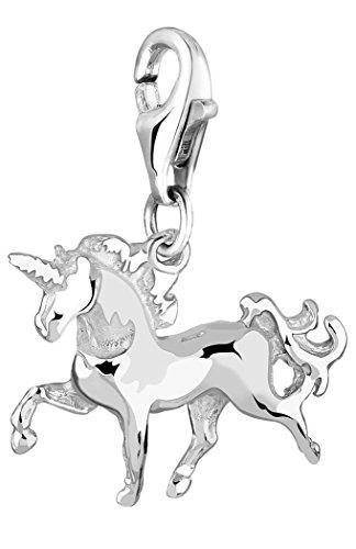 Nenalina Charm Einhorn Anhänger in 925 Sterling Silber für alle gängigen Charmträger 713132-000