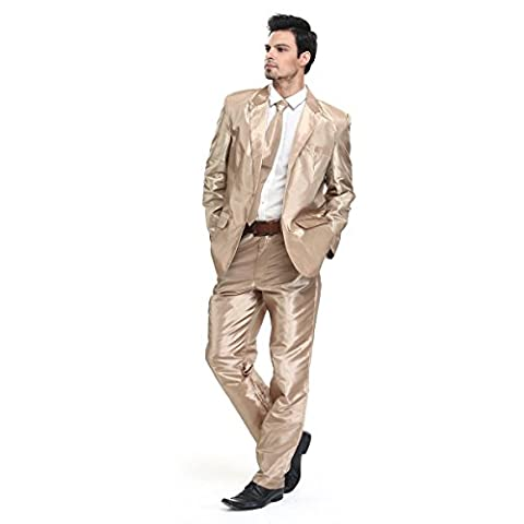 More 2016 Designs! Mens Christmas Suit Party Funny Novelty Xmas Jacket Costume in Solid Color by YOU LOOK UGLY TODAY Small Gold
