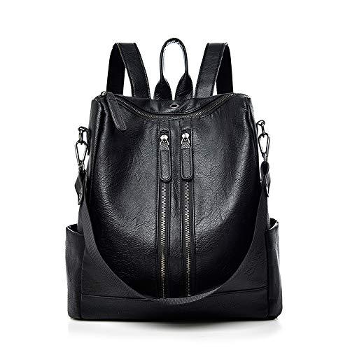 Leder Multi-tasche Rucksack (Damen Rucksack Handtasche Leder PU Umhängetasche Backpack Schultertasche Anti Diebstahl Tasche Wasserdichte Schulrucksack)