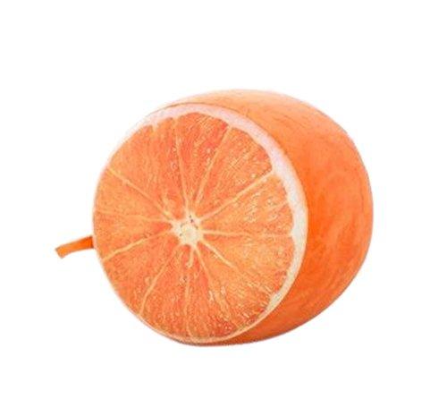 kreative Frucht Plüsch aufblasbare Hocker tragbare Falten, Niedliches orange