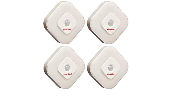 4 Pack First Alert SFA265 Indoor Motion Sensor LED Lights