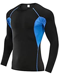 SKYSPER Camiseta de Compresión Manga Larga para Hombre Pantalones Largos  Leggings Apretada Ropa Interior Deportiva Deportes 66af260b4e124
