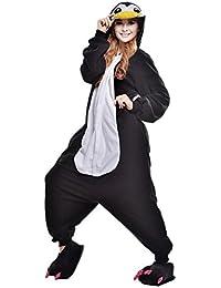 Pijamas Adultos Animales-Disfraz Anime Cosplay Ropa de Dormir Franela Traje Unisex Homewear S Pingüino