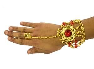 AEC - AC0188  - Bracelet oriental metal bijou de main avec pierres