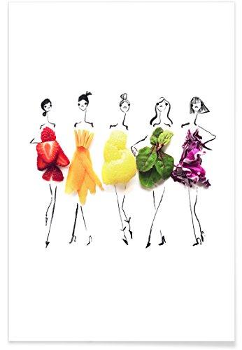 """JUNIQE® Poster 30x45cm Essen & Trinken - Design """"Rainbow"""" (Format: Hoch) - Bilder, Kunstdrucke & Prints von unabhängigen Künstlern - Küchenbilder   Kunst für die Küche - entworfen von Gretchen Roehrs"""