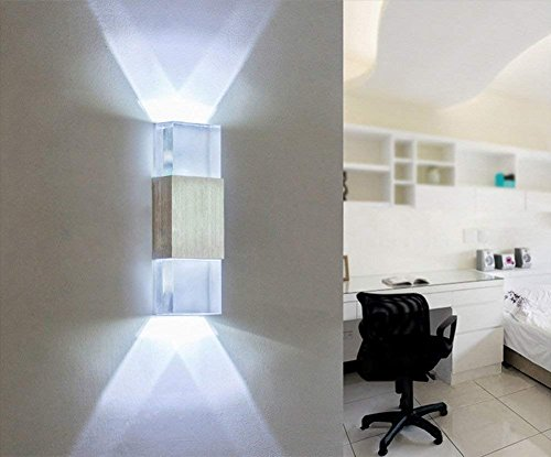 Sisviv applique da parete interni lampada da parete moderno w led