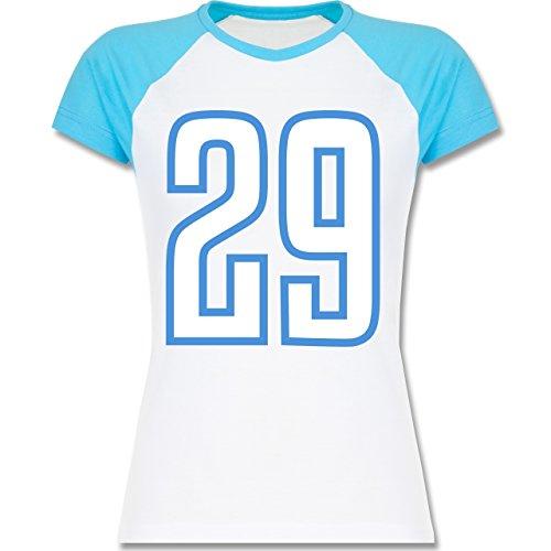 Shirtracer American Football - Football Tennessee 29 - Zweifarbiges  Baseballshirt/Raglan T-Shirt für