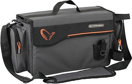 Savage Gear Lure Specialist Shoulder Bag L Angeltasche 16x40x22cm inkl. 2 Angelboxen , Anglertasche für Kunstköder & Angelköder, Ködertasche, Angelbox, Köderbox, Angeltasche, Schultertasche, Blinkertasche