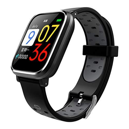 Bracelet intelligent avec écran grand écran de 1,3 pouces anti-aquarelle avec moniteur de sommeil podomètre et surveillance du compteur de fréquence cardiaque, bracelet de course intelligent-grey