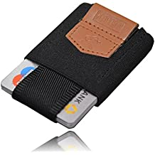MakakaOnTheRun ™ Mini Geldbörse aus Textil mit Münzfach – Minimalist Kreditkartenetui, Slim Wallet, Kleines Portemonnaie für Herren & Damen