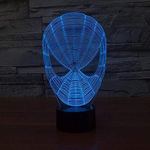 Wangzj 3d illusione ottica night light / 3d night light/illusion lampada/comodino lampada da tavolo/regali di natale/spider