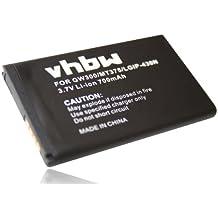 BATERÍA LI-ION compatible con LG GW300, LX290, LX370, MT375 sustituye SBPL0098901, LGIP-430N