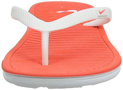 Nike - Solarsoft Thong Ii, Infradito Donna Bianco (White (White/Bright Crimson/White))