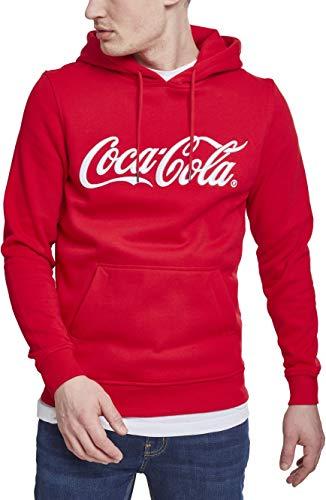 MERCHCODE Herren Coca Cola Classic Hoody Kapuzenpullover, red, S (Herren Coca-cola)