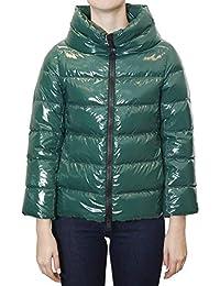 Herno Piumino Corto Verde in Nylon Shiny 359a74a1717