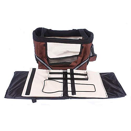 rier, Dog Bike Front Carrier mit kleinen Taschen, Fahrradlenker Small Pet Carrier mit Schultergurt Strap Braun ()