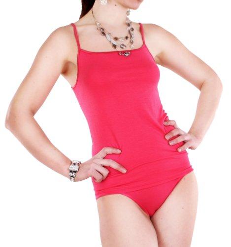 Damen Micro Modal Spaghetti-Top, Unterhemd mit schmalen Trägern von Schöller, Micro Modal mit Elasthan, in den Größen 38 - 50 carmin