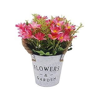 Viviving – Flores Artificiales de crisantemo, Flores Artificiales, Tallos en Maceta para decoración de casa, Oficina…