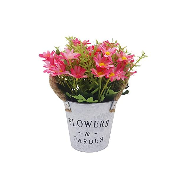 Viviving – Flores Artificiales de crisantemo, Flores Artificiales, Tallos en Maceta para decoración de casa, Oficina, Fiesta (Rosa)