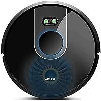 Zigma Robot Aspirador, Navegación Laser, Fuerte Succión, Barre, Friega, Captura Alérgeno, App Control, Múltiples Mapas, Alexa, Google Assistant y Siri