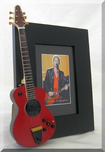 LINDSEY BUCKINGHAM Miniatur Gitarre Foto Rahmen Fleetwood Mac -