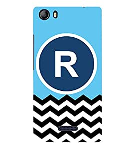 PrintVisa R On Plain-Chevron 3D Hard Polycarbonate Designer Back Case Cover for Micromax Canvas 5 E481