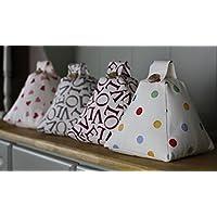 Fabric Door stop Doorstop (unfilled) Home gift. Handmade in Emma Bridgewater Polka Dot Multi Plum Grey Love Writing Fabric. Christmas gift.