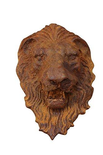 Löwenkopf Löwe Dekoration Eisen Wanddekoration Wasserspeier Skulptur Figur