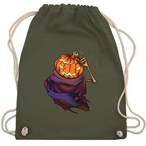 (Halloween - Kürbiskopf - Unisize - Olivgrün - WM110 - Turnbeutel & Gym Bag)