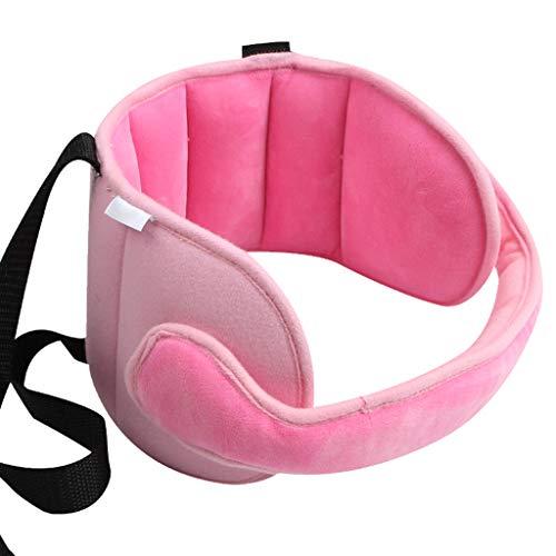 Haorw baby kopfstütze, Schlaf Stellungsregler Kinderwagen Kindersitz Befestigung Riemen Kopf Halter (rosa)