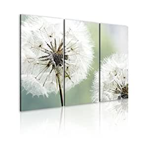 xxl format top bild leinwand 3 teilig blumen wandbilder 030210 16 120x80 cm riesen. Black Bedroom Furniture Sets. Home Design Ideas