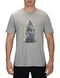 Hurley M Savage Ship tee Camisetas, Hombre, Spruce Fog, XXL