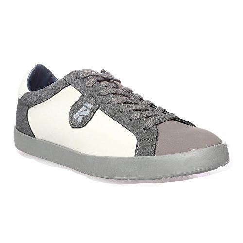 RIFLE Sneakers da uomo, scarpa bassa stringata - Mod. 162-M-363-456 Grigio - Grigio Scuro - Bianco