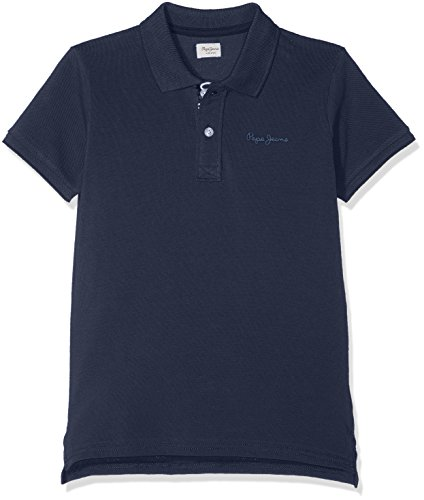 Pepe Jeans Jungen Poloshirt Thor Jr, Blau (Ocean 588), 13-14 Jahre (Herstellergröße: 14 Jahre) (Jeans-jungen-shirt)