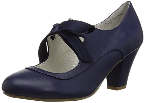 a230053bb10 Pin Up Couture WIGGLE-32 Navy Blue Faux Leather UK 6 (EU 39)