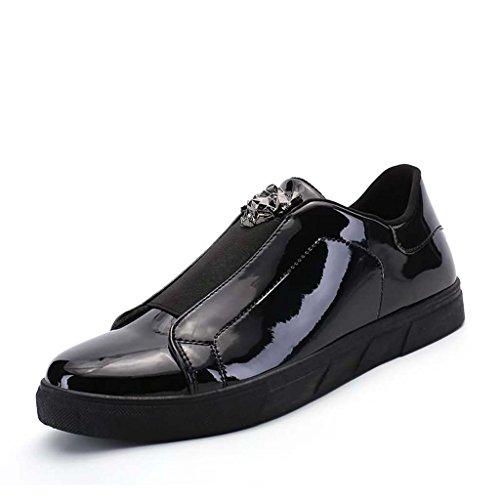 ZXCV Scarpe all'aperto Scarpe in pelle uomo e scarpe da tempo all'aria aperta Nero