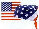 Foulard bandana USA drapeau américain - 55 cm x 55 cm - Moto biker country vintage tendance