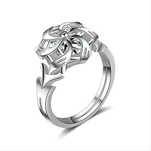 BUBULILI Ring klassisch geformter platinierter Schmuck für Frauen -