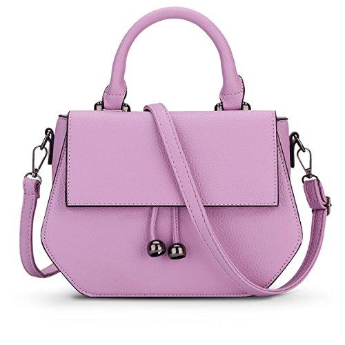 HQYSS Damen-handtaschen Frauen PU-lederne beiläufige große Kapazitäts-Schulter-Kurier-Handtasche Normallack-justierbare abnehmbare Einkaufstasche Crossbody Beutel purple