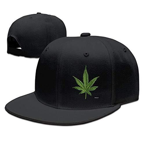 Vintage Fitted Cap (Kotdeqay Mens Vintage Snapbacks Hats Baseball Caps Marijuana Leaf Fitted Hats,Unisex 32519)