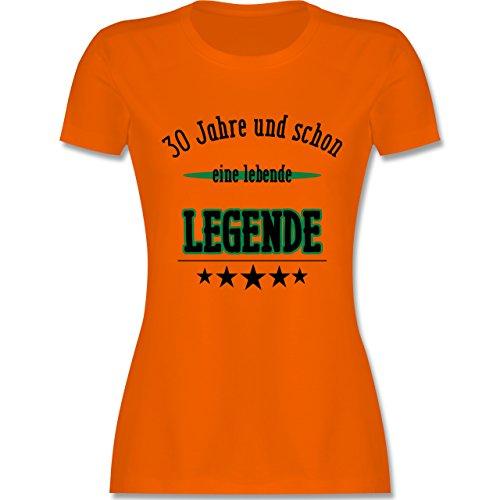 Geburtstag - 30.Geburtstag Legende Fun Geschenk - tailliertes Premium T-Shirt mit Rundhalsausschnitt für Damen Orange