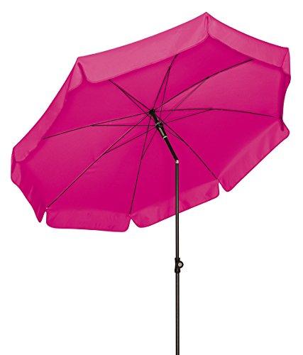 Doppler Absolut wetterfester Gartenschirm Sunline 200 Fuchsia, UV-Schutz 50 Plus und Knicker,