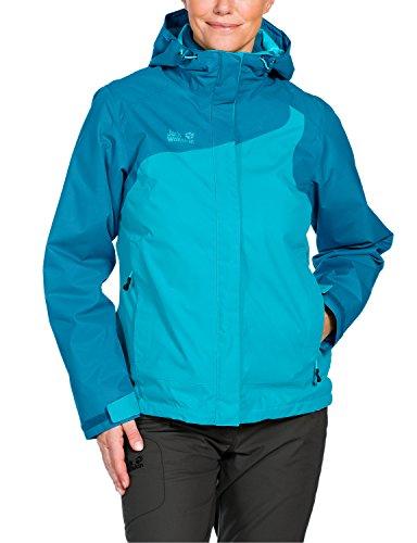 Klasse Damen Light T-shirt (Jack Wolfskin Damen 3-in-1 Wanderjacke Cool Wave, lake blue, L, 1104402-1063004)