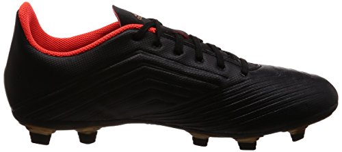 adidas Predator 18.4 FxG, Chaussures de Football Homme Noir (Core Black/ftwr White/solar Red)