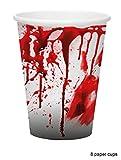 Karneval-Klamotten blutiges Tischdeko Party Set XXL Halloween Horror Blut 38 Teile Teller, Becher, Servietten, Tischdecke, Girlande - 3
