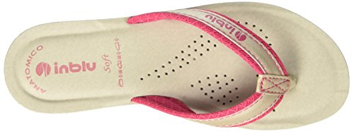 INBLU Damen Stile Flip-Flops Pink (Fuxia)