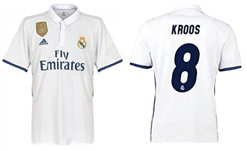 Trikot Herren Real Madrid 2016-2017 Home WC - Kroos 8 (L) (Real Madrid Wc)