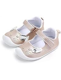 Lacofia Bailarinas bebé niña Zapatos Antideslizantes Primeros Pasos para bebé ...