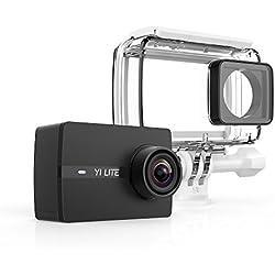 yi Lite cámara de acción 4K/15fps, 1080p/60fps con lente ultra gran angular WiFi & Bluetooth con cubierta impermeable–negro